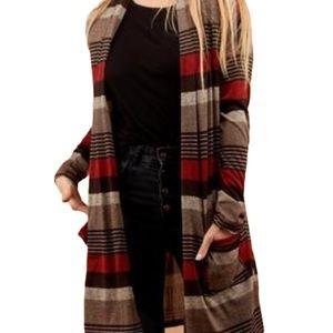 Tops - Multi Stripe Long Cardigan Sizes S M L XL